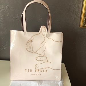 Ted Baker Large Pink French Bulldog Tote Nice!